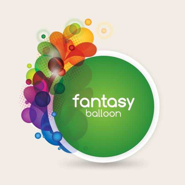 Fantasy Balloon Vector Graphic