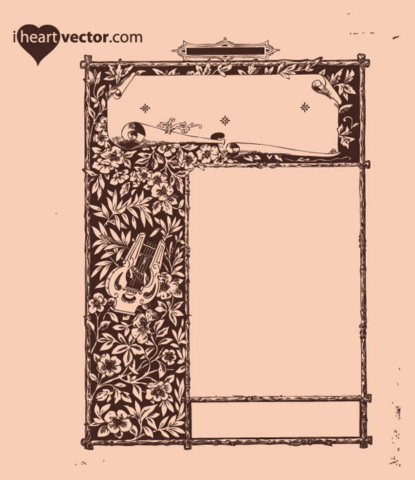 Free Antique Frame Vector Graphic