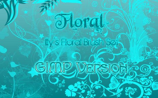 GIMP Floral Set 1