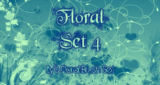 GIMP Floral Set 4