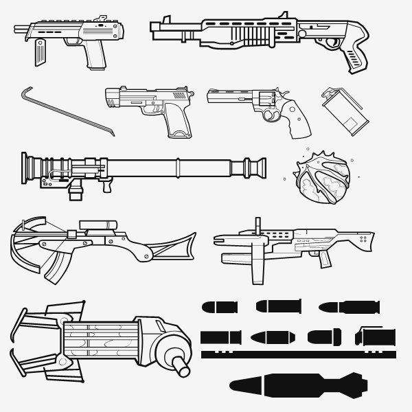 Half Life 2 Weapon Shapes