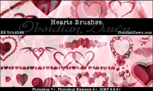Hearts Brushes by Obsidian – Part 1