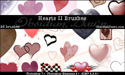 Hearts Brushes by Obsidian – Part 2