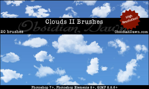 High Resolution Clouds Brushes by Obsidian