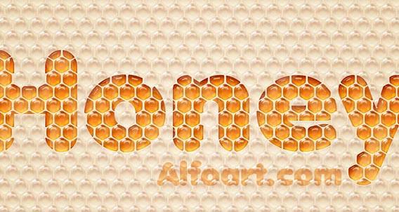 Honey bubbles text effect