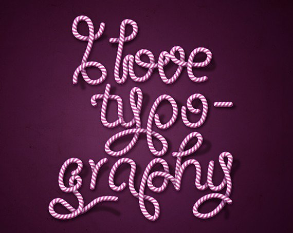 How to create candy cane typography.