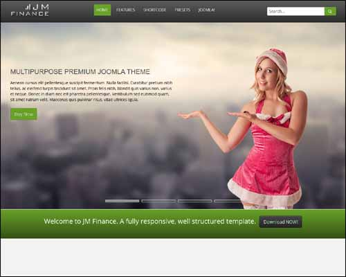 JM Finance Free Joomla Template