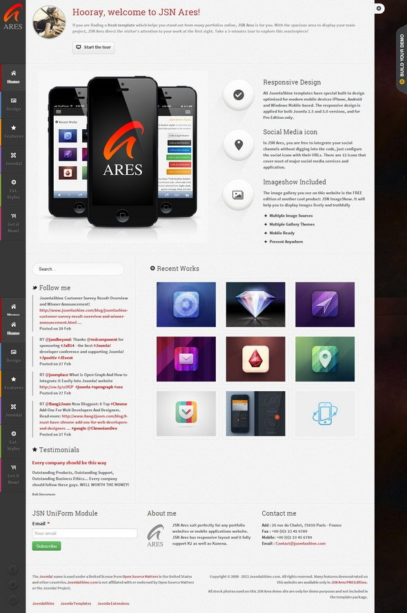 JSN Ares – Portfolio Theme