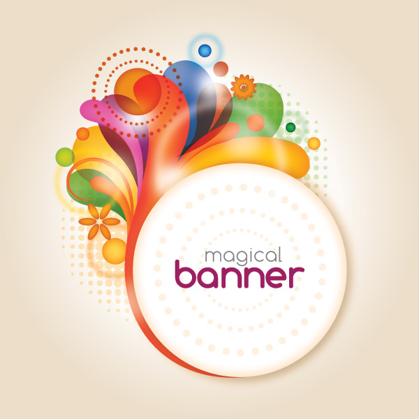 Magical Banner Vector Graphic