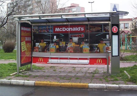 McDonald's Bus Stop Advertisement