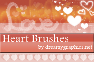 More Heart Brushes from Dreamy Graphics