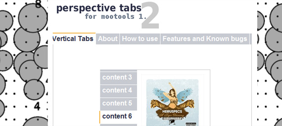 Perspective tabs