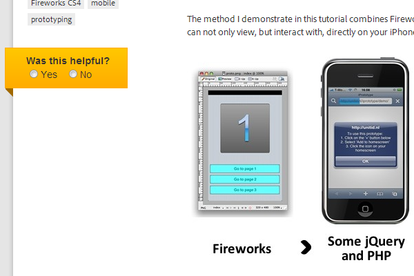 Prototyping for the Apple iPhone using Fireworks