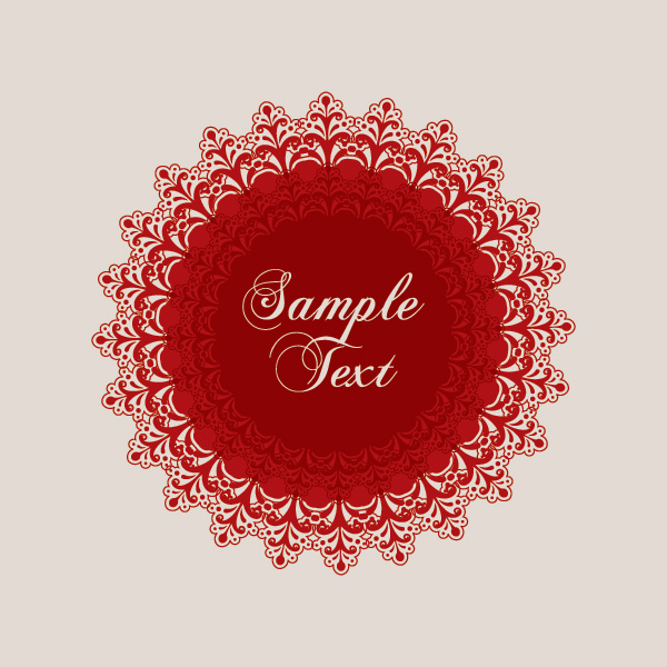 Red Ornament Vector Graphic