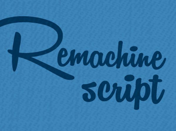 Remachine Script Font by Måns Grebäck