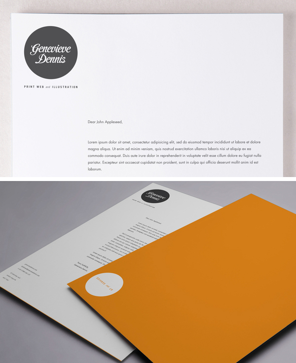 Self Promotion Stationery by Genevieve Dennis