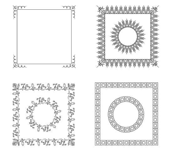 Vector Frame Borders
