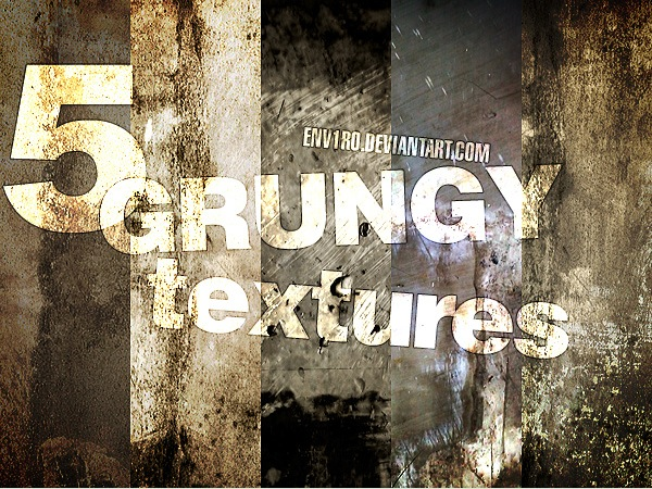 5 Grungy (Wall:Plain:Rust) Textures