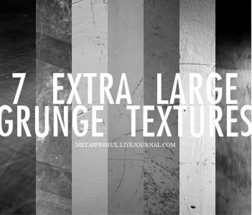 7 XL grunge textures