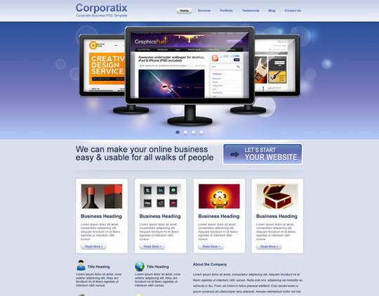 Convert Business PSD template to HTML-CSS tutorial