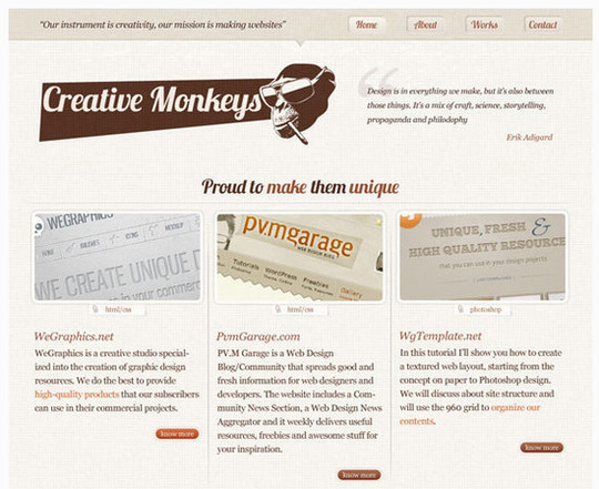 Create a lovely textured web design from Photoshop to HTML-CSS