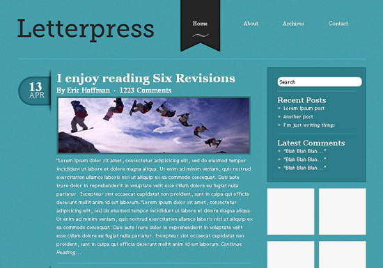 Elegant and Simple CSS3 Web Layout