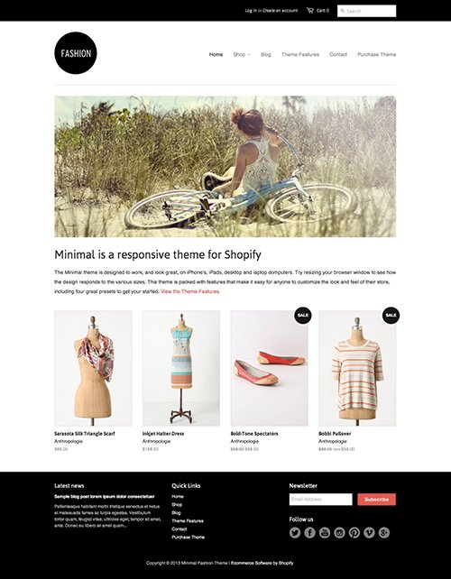 Fashion Ecommerce Website Template – Free Minimal Online Store Theme
