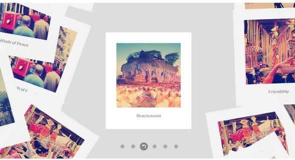 Flat-style Polaroid gallery