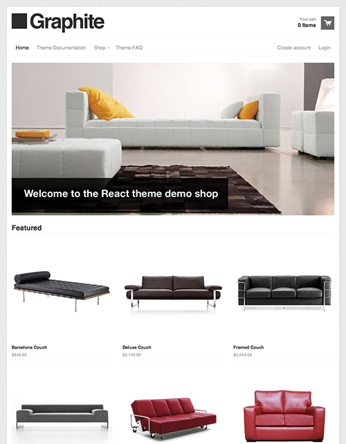 Graphite Ecommerce Website Template – Free React Online Store Theme