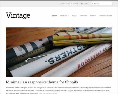 Minimal Vintage Shopify Theme (FREE)