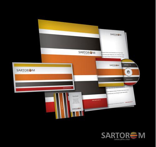 Sartorom logo + business stationery