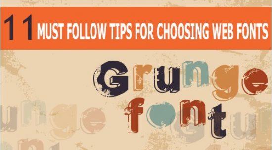 11 Must Follow Tips for Choosing Web Design Fonts