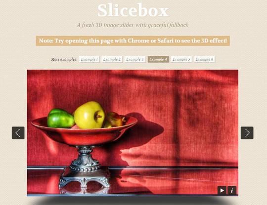 Slicebox – A fresh 3D image slider with graceful fallback