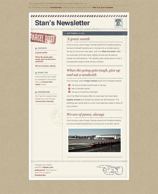 Stan's Newsletter
