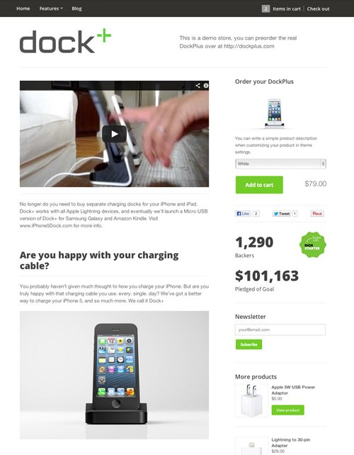 Starter Ecommerce Website Template – Free Kickstand Online Store Theme