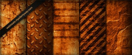 Tileable Burnt Orange Industrial Grunge Textures