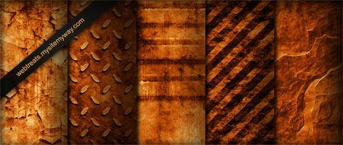 Tileable Burnt Orange Industrial Grunge Textures