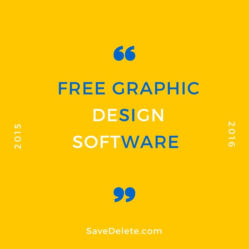 Graphic design software free Free design programs