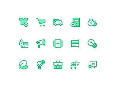 Screen Shot of Icons for E-commerce