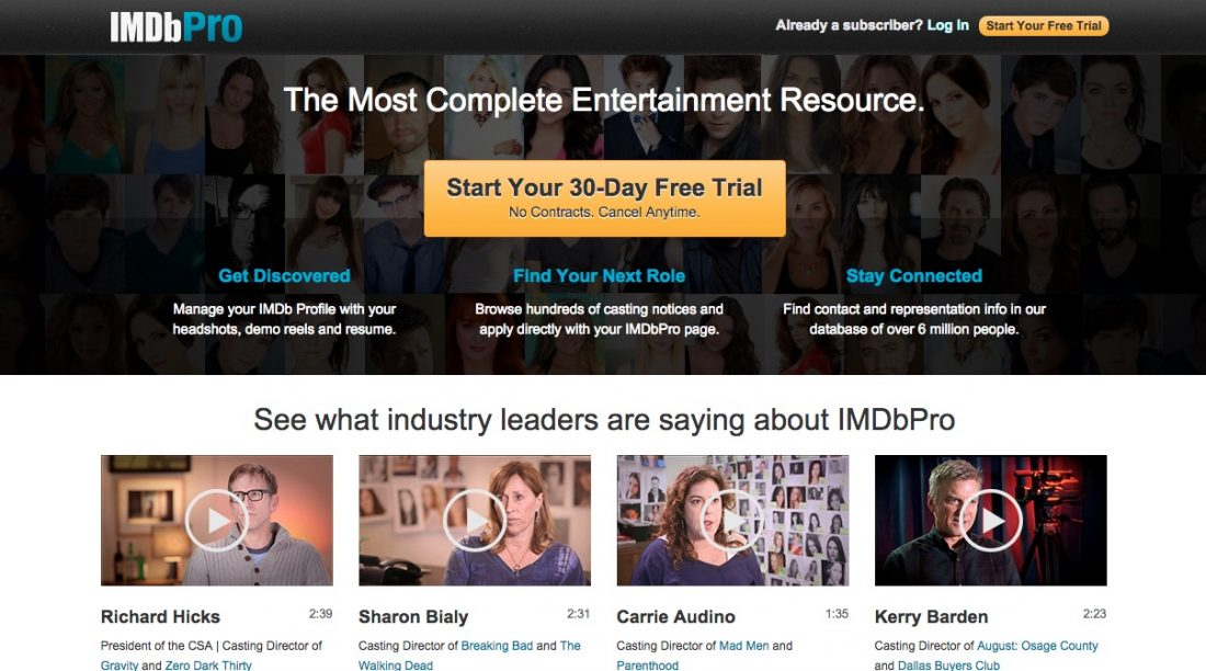 IMDBPro - The Most Active Service for People in Showbiz