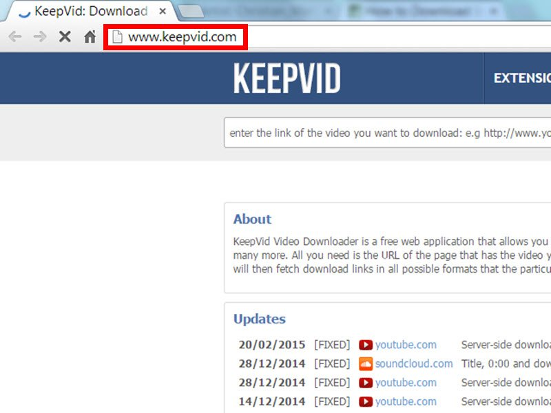 How to download youtube videos with keepvid savedelete open keepvid ccuart Image collections