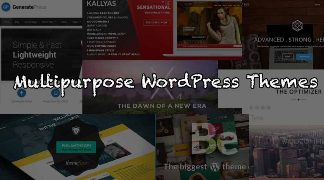 25 Best Multipurpose Wordpress Themes (Free and Paid)