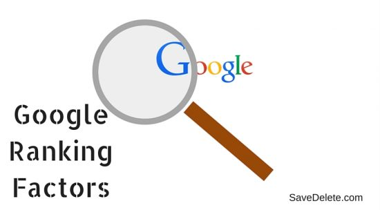 The Most and The Least Important - Google Ranking Factors