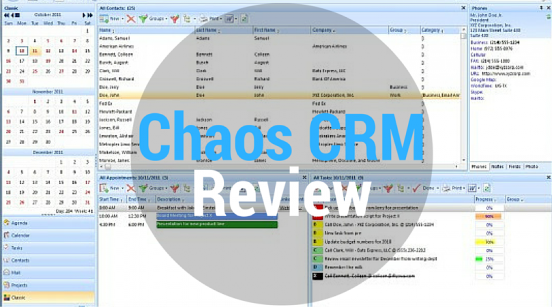 Chaos CRM Review - CRM Software
