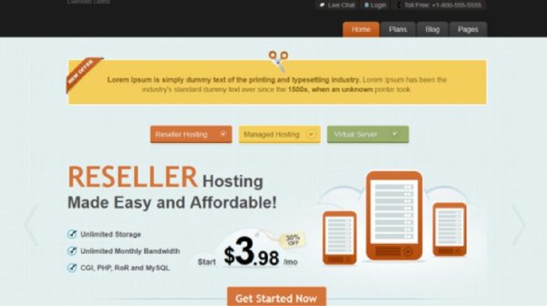 LiveWeb - WordPress Web Hosting Template