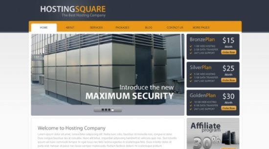 Hosting Square - Web Hosting Joomla Template