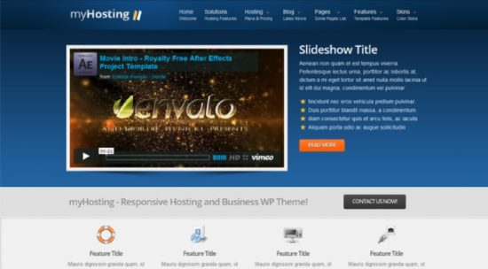 myHosting – Responsive Hosting & Business Template