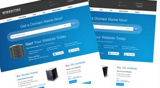 Free Web Hosting Domain sales Mobile Web Template