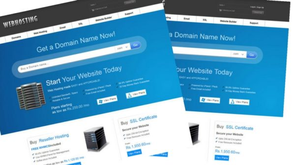 Free Web Hosting Domain sales Mobile Web Template