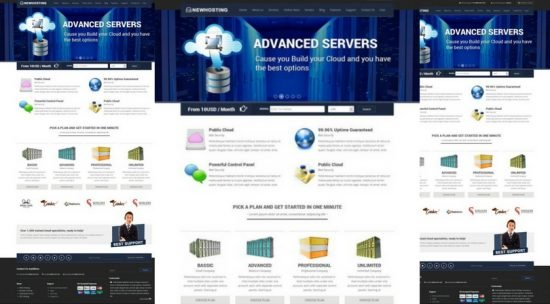 NewHosting Hosting HTML Template